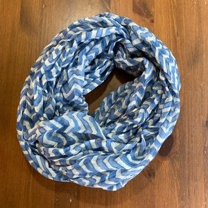 Blue and white Infinity scarf